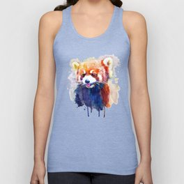 Red Panda Portrait Unisex Tank Top