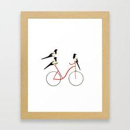 Reason THREE for using bike. Framed Art Print