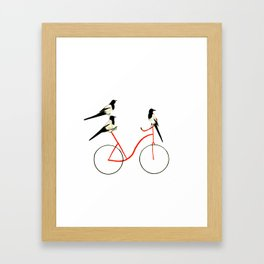 Reason THREE for using bike. Framed Art Print