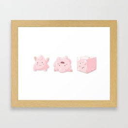 Clefairy (White) Framed Art Print
