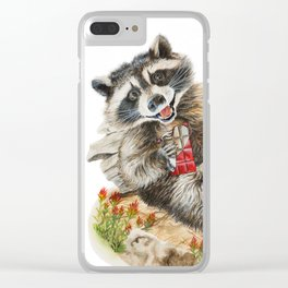 Chocolate Bandit Clear iPhone Case
