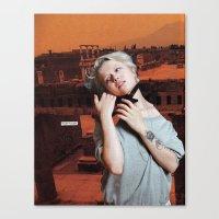 cassandra jean Canvas Prints featuring Cassandra by Briana Finegan