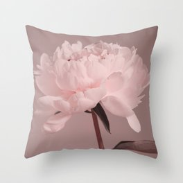 Single peony (pink) Throw Pillow