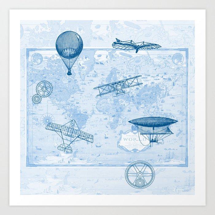 A Brief History of Flight Art Print