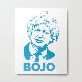 Boris Johnson-Blue Metal Print