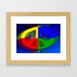 Nuclear peace. Framed Art Print