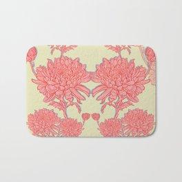 Chrysanthemum in Pink Bath Mat