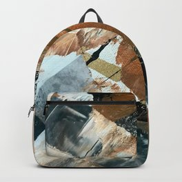 Chocolate Kisses [2]: A bold, minimal, abstract piece in pink, gold, brown, black and white Backpack
