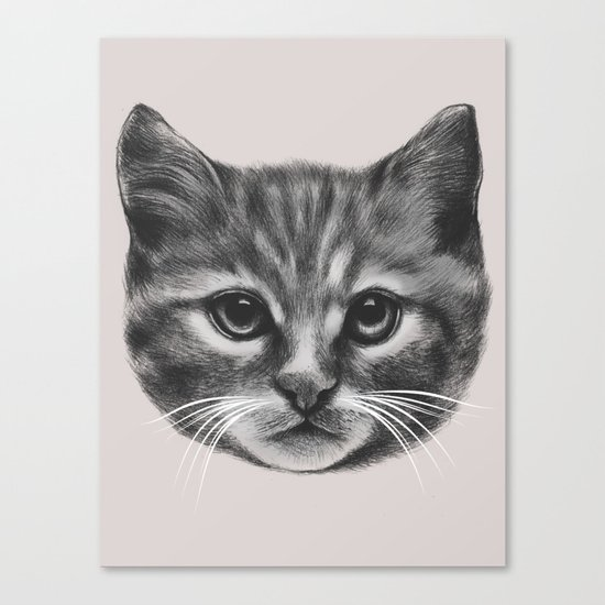 Everybody wants to be a Cat (MONOTONE) Canvas Print