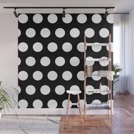 Black Polka Dot Wall Mural