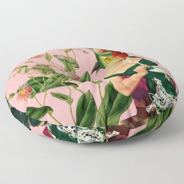 fish soul mate pink #collage Floor Pillow