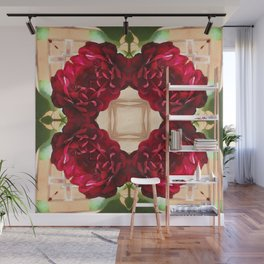 Old Red Rose Kaleidoscope 1 Wall Mural