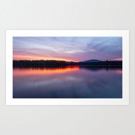 evening on raquette lake Art Print
