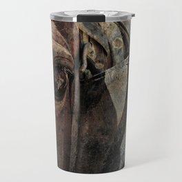 Amish Horse Rusty Grunge Travel Mug