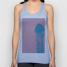 Afro Retro Moments Mauve & Teal Unisex Tank Top