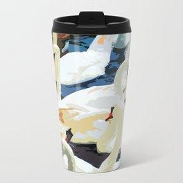 Swans on the Lake Metal Travel Mug