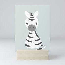 Baby Zebra Mini Art Print