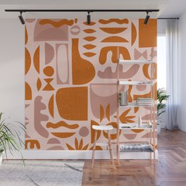 Mid Century Nomade Shapes Wall Mural
