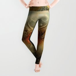 """Art Deco Retro The Chimera"" Leggings"
