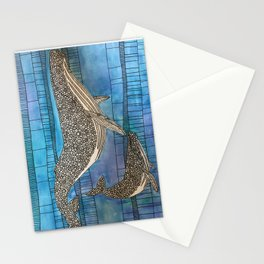 Two Whales Stationery Cards