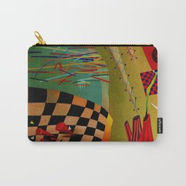 Red green transcendental abstraction Carry-All Pouch