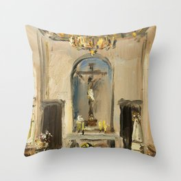 Private Chapel Throw Pillow
