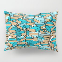 Book Collection in Turquoise Pillow Sham