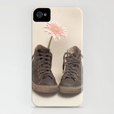 Brown Converse Boots and Pink Flower (Retro Still Life Photography)  iPhone (4, 4s) Slim Case