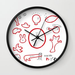 Cute! Original character of the rubber band Wall Clock