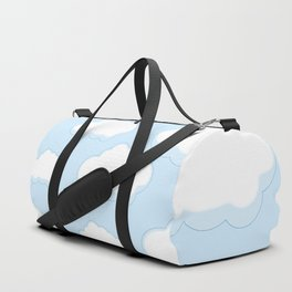 Blue sky with white clouds flat style simple.  Duffle Bag