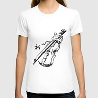 violin T-shirts featuring Violin by Azure Cricket