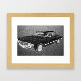 '67 Chevy Impala (Supernatural) Framed Art Print
