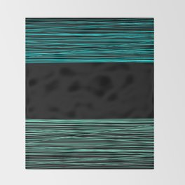 Thread , black and green Throw Blanket