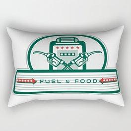 Crossed Fuel Nozzle Gas Pump Retro Rectangular Pillow