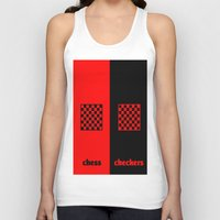 chess Tank Tops featuring Chess & Checkers by hensleyandchristensen