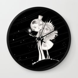 Moon man Romance with Lady Sun Wall Clock