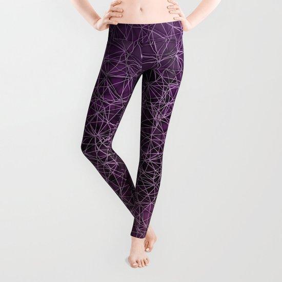 Mesh polygonal purple and pink Leggings