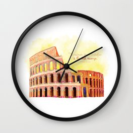 Inspirational Roman Colosseum Wall Clock
