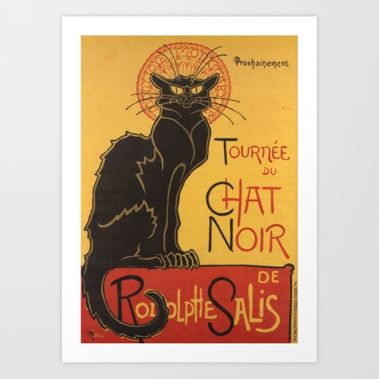 Soon, the Black Cat Tour by Rodolphe Salis Art Print