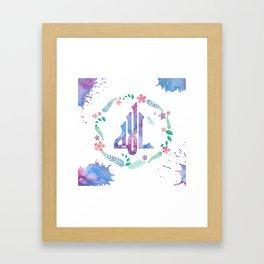 Kufic Allah Calligraphy Framed Art Print