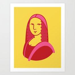 Mona Lisa Pop Art Art Print