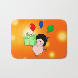 Birthday Pig Bath Mat