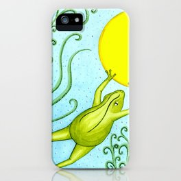 The pond frog iPhone Case
