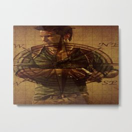 Compass of Uncharted Lands Metal Print