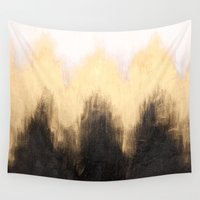 metallic Wall Tapestries featuring Metallic Abstract by Caitlin Workman