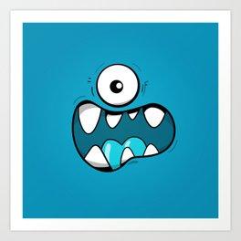 Monster face Art Print