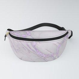 Marble Love Purple Metallic Fanny Pack