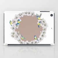 tits iPad Cases featuring Blue Tits and Blossoms by Hannah Ramus