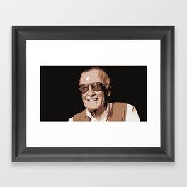 Mr Stan Lee, vintage picture Framed Art Print