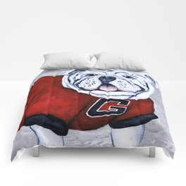 Georgia Bulldog Uga X College Mascot Comforters